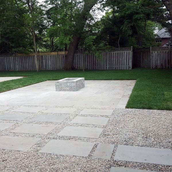 Gravel And Concrete Outdoor Designs Patio Firepit