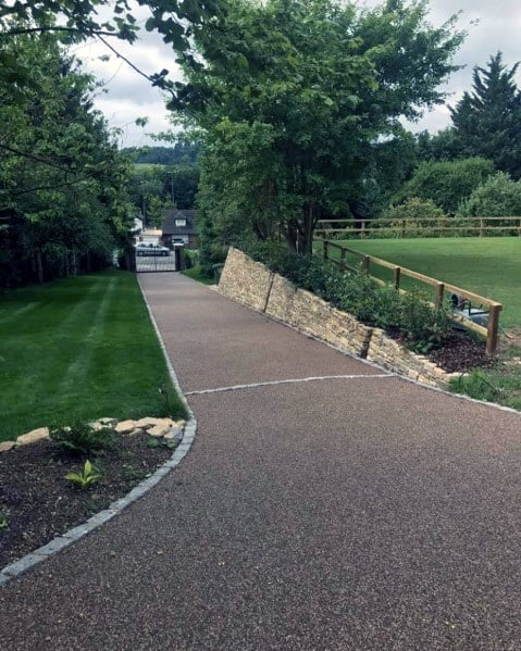 Gravel Driveway Ideas With Stone Edging