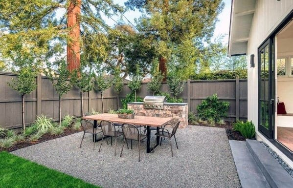 Top 40 Best Gravel Patio Ideas - Backyard Designs on Backyard Pebbles Design id=98575