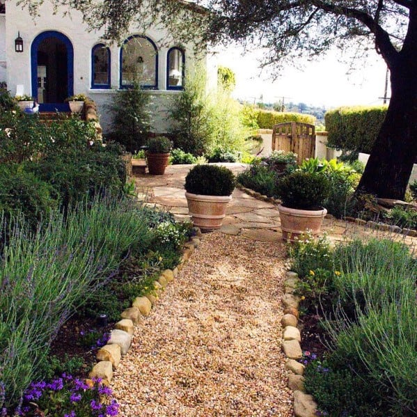 Gravel Stone Edging Landscaping Ideas For Walkway