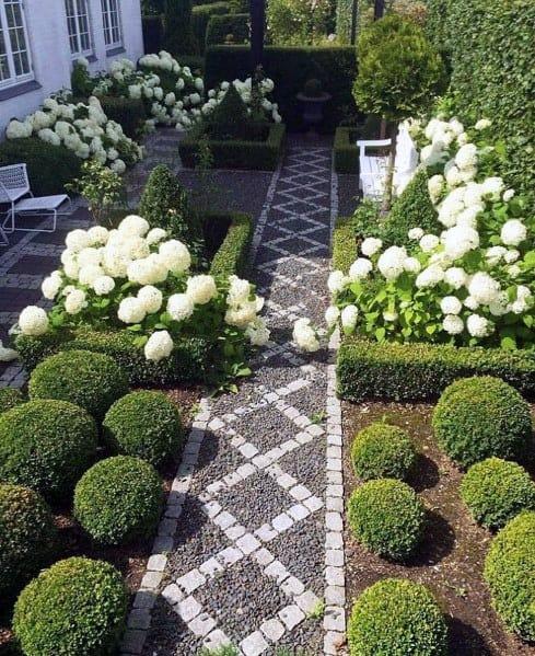 Gravel Walkway Pattern Backyard Design