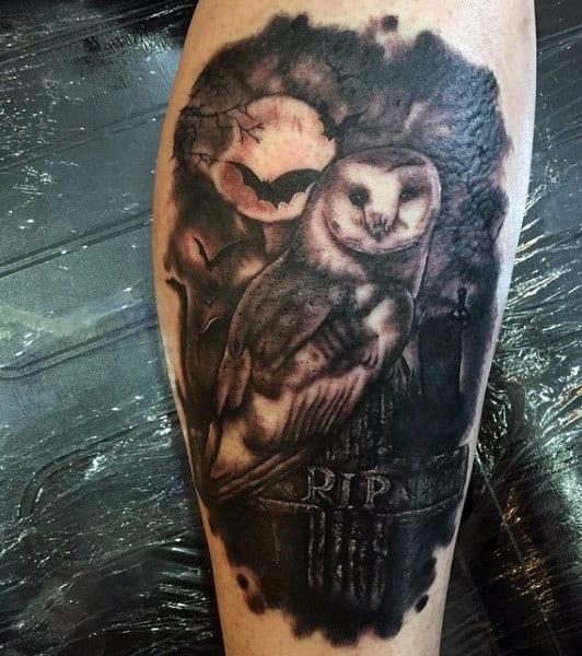 Graveyard Tattoo Design Ideas For Men