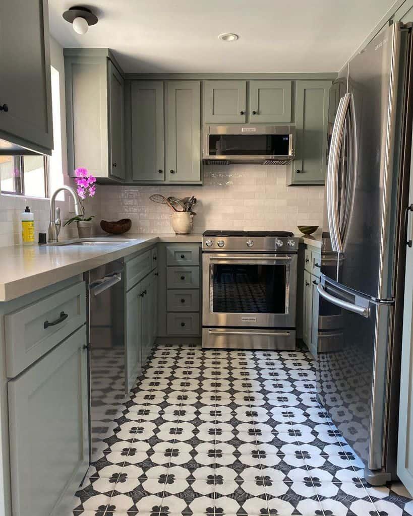 gray galley kitchen ideas christinademossla