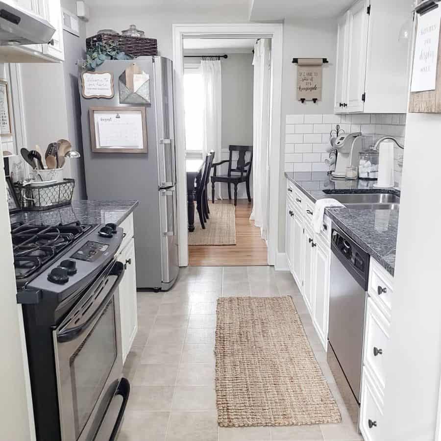 gray galley kitchen ideas patinaandpearl