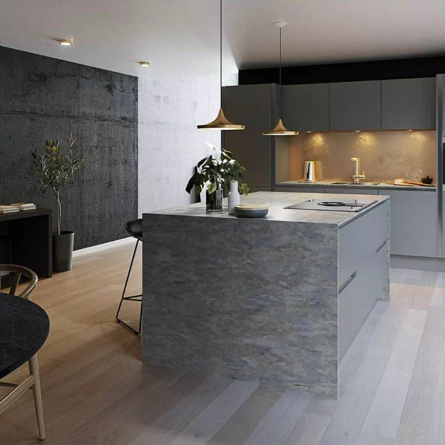 gray kitchen countertop ideas myfirstbungalow_