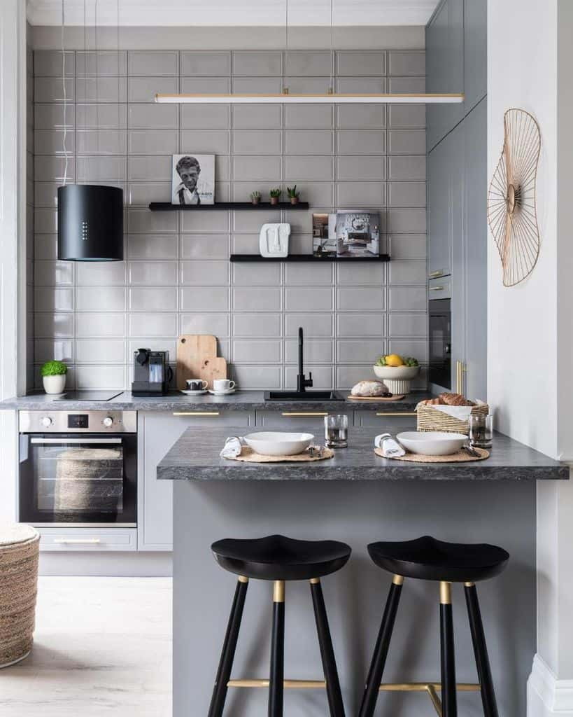gray kitchen tile backsplash ideas olgaashby