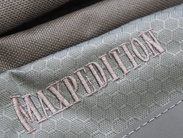 Gray Maxpedition Riftblade Backpack Brand Stiched Detail On Exterior