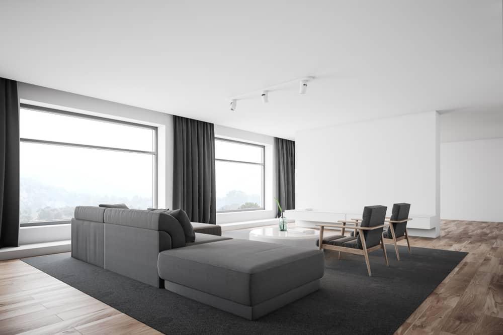 Gray Minimalist Living Room 2