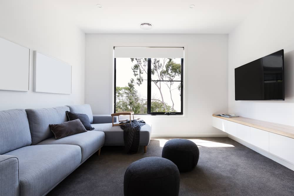 Gray Minimalist Living Room 4