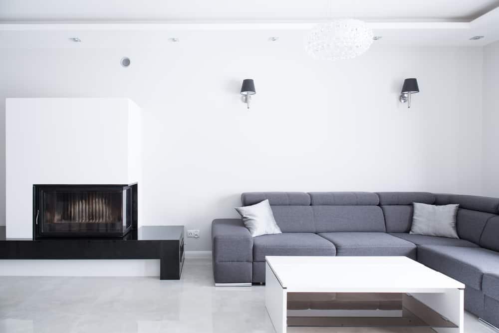 Gray Minimalist Living Room 5