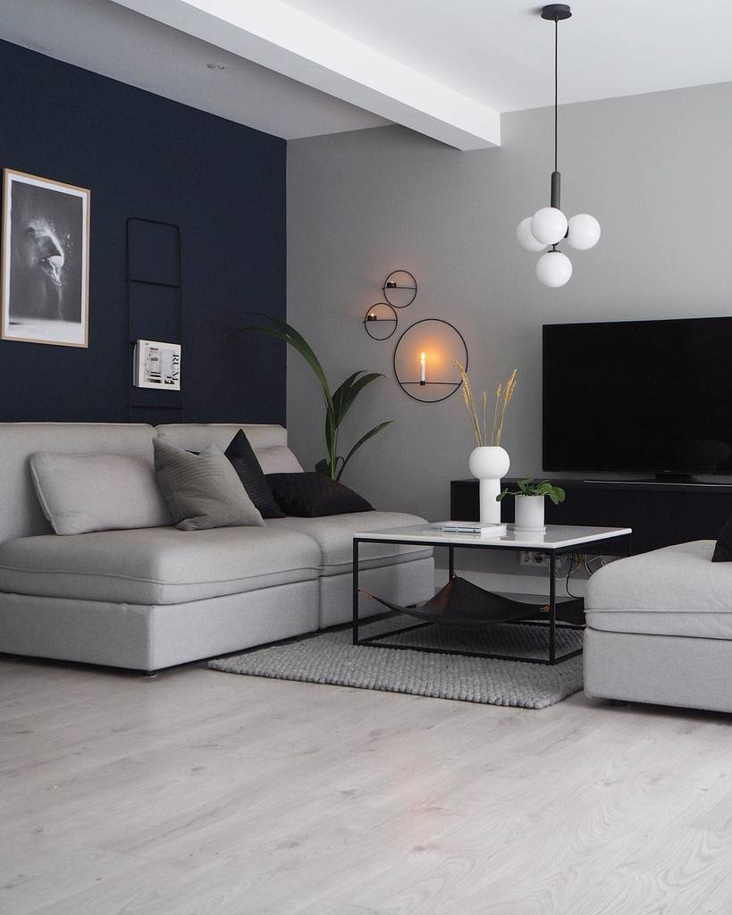 Gray Minimalist Living Room Carlberg Home