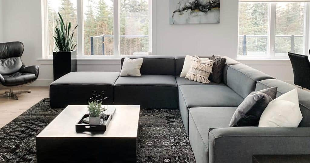 Gray Minimalist Living Room Topmdrn