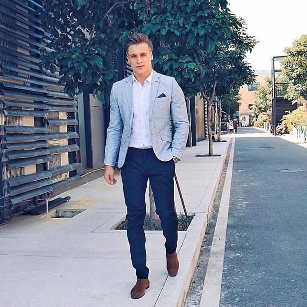 Gray Suit Classic Fashion Style