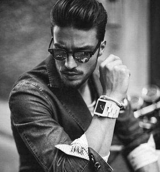 Greaser Male Rockabilly Style Hair Pompadour