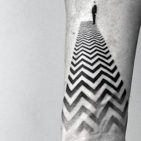 Great Geometric Pattern Inner Forearm Wrist Male Tattoos