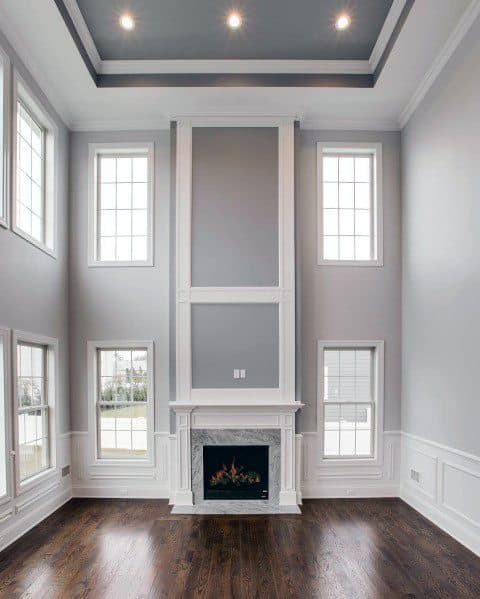 Great Room Impressive Trey Ceiling Ideas