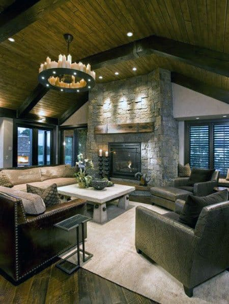 Superb Great Room Vaulted Wood Ceiling Ideas