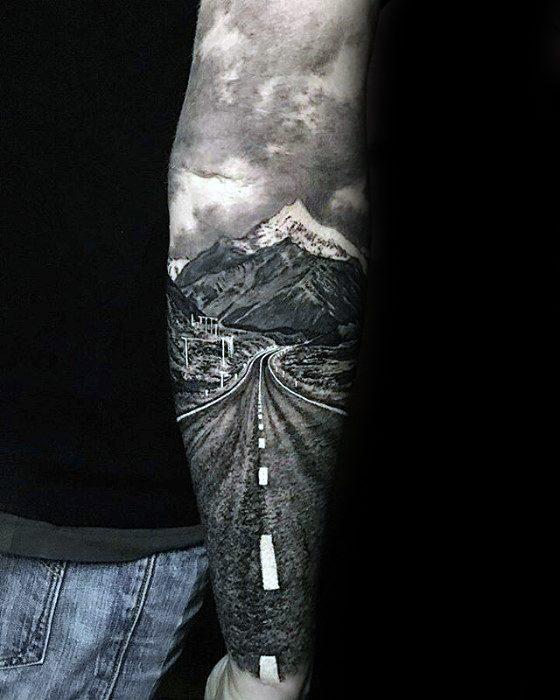 Greatest Guys Road Tattoo Ideas