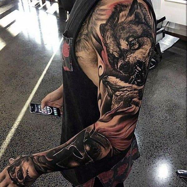 Greatest Tattoo On Men Full Arm Sleeve