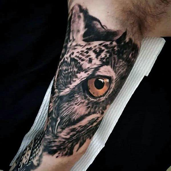 Greatest Tattoo Owl Design On Man