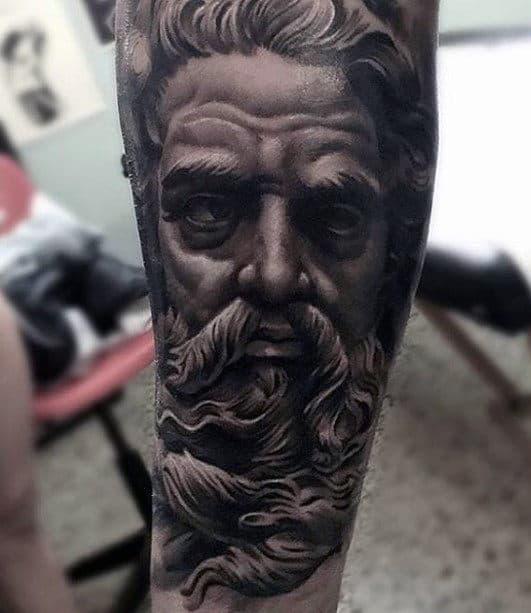 Greek God Guys Sweet 3d Tattoo On Forearm