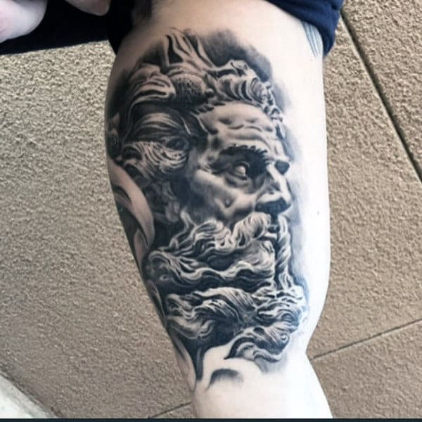 Greek God Inner Arm Male Tattoos