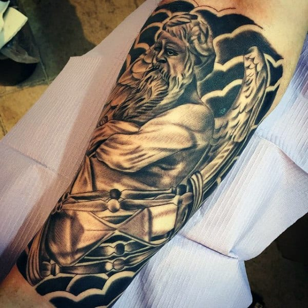 Greek Gods Tattoos For Men On Legs