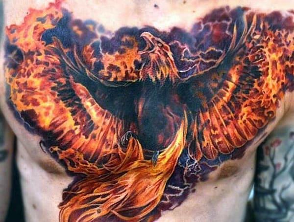 Greek Mythology Phoenix Meaning Symbolic Tattoo Design Ideas For Men