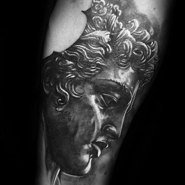 Greek Perseus Tattoo Designs For Guys On Arm