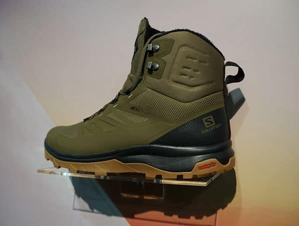 Green And Black Mens Salomon Boot At Outdoor Retailer Winter Market 2018