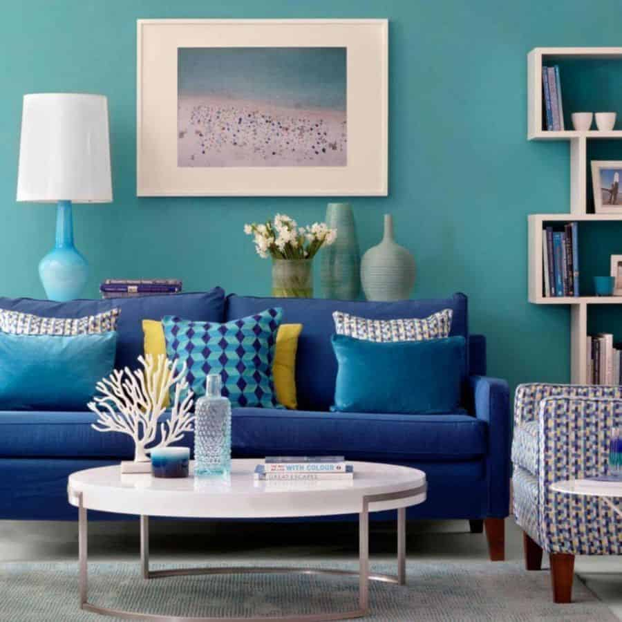 The Top 12 Blue Living Room Ideas - Interior Home and Design