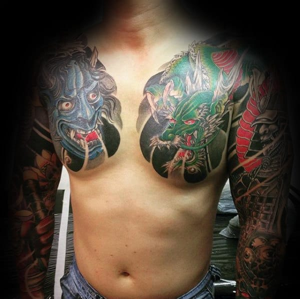 100 Hannya Mask Tattoo Designs For Men - Japanese Ink Ideas