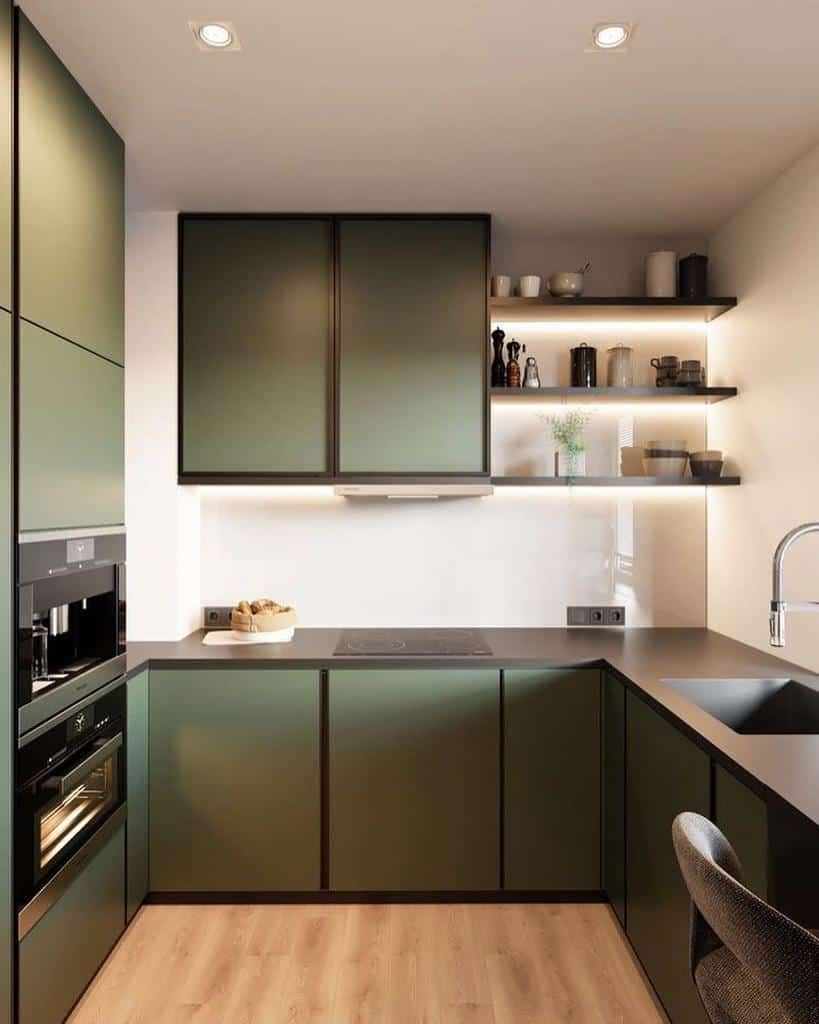 green kitchen color ideas inthersection