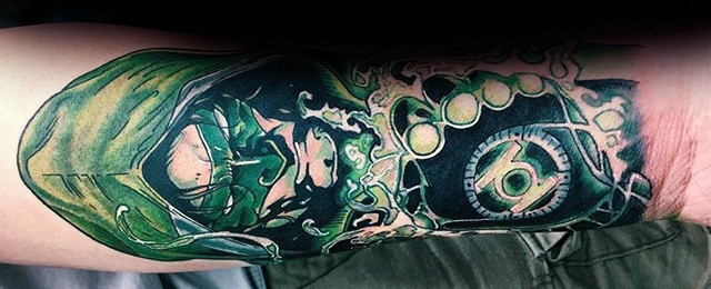 Green Lantern Tattoo Designs For Men