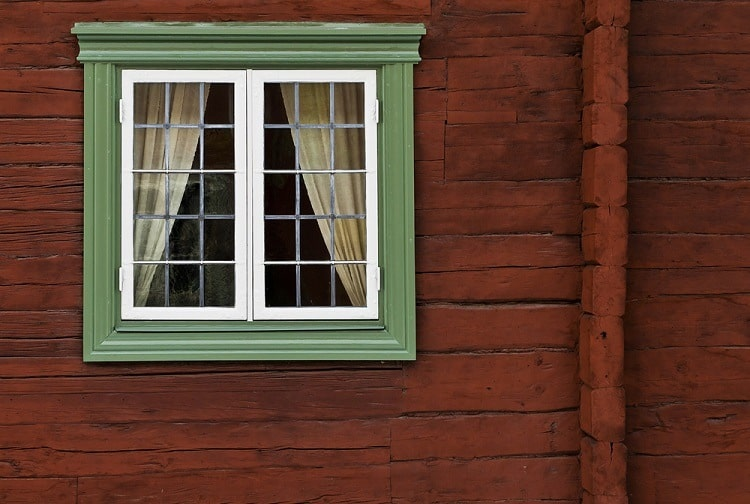 Green Old Window Trim