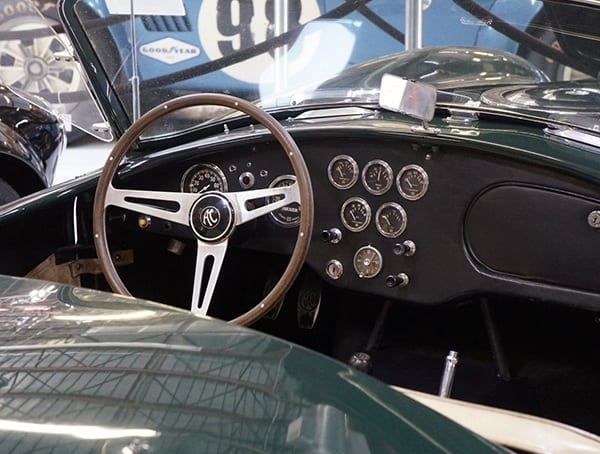 Green Shelby Cobra With Black Interior