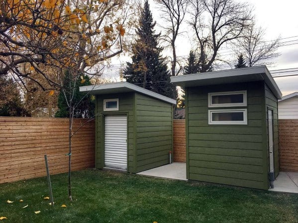 Green Small Backyard Shed Exterior Design