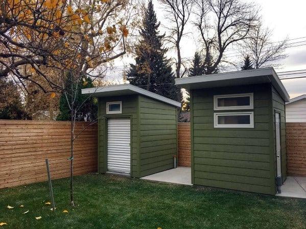 Green Small Backyard Shed Exterior Design