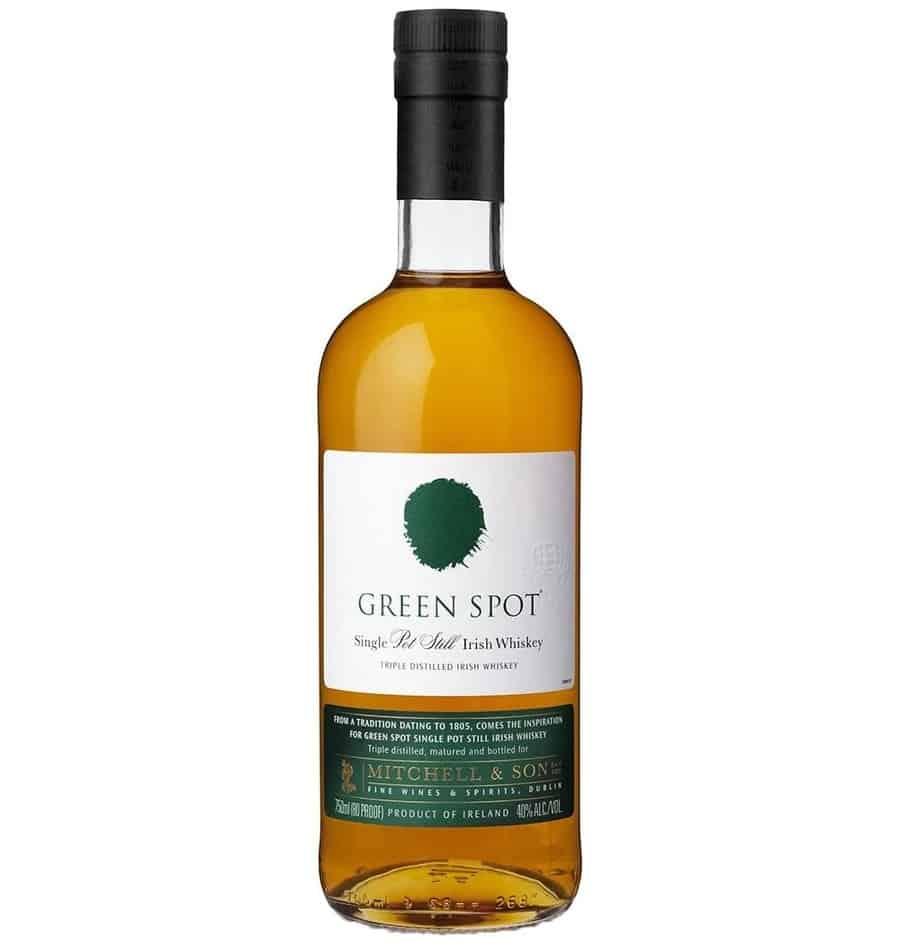 green spot irish whiskey bottle