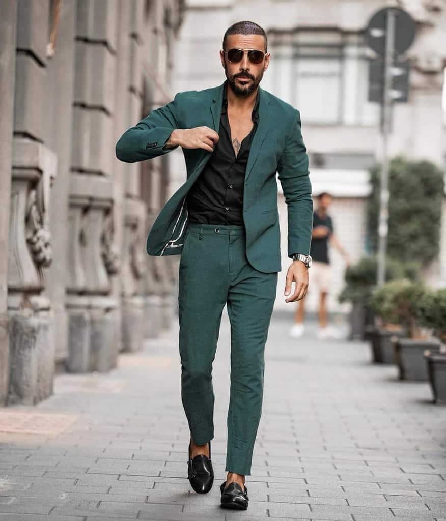 Green Suit Dapper Mens Wear