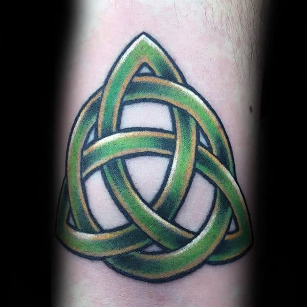 Green Triquetra Guys Celtic Tattoo Ideas On Arm