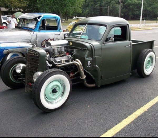 Green Truck Badass Rat Rods