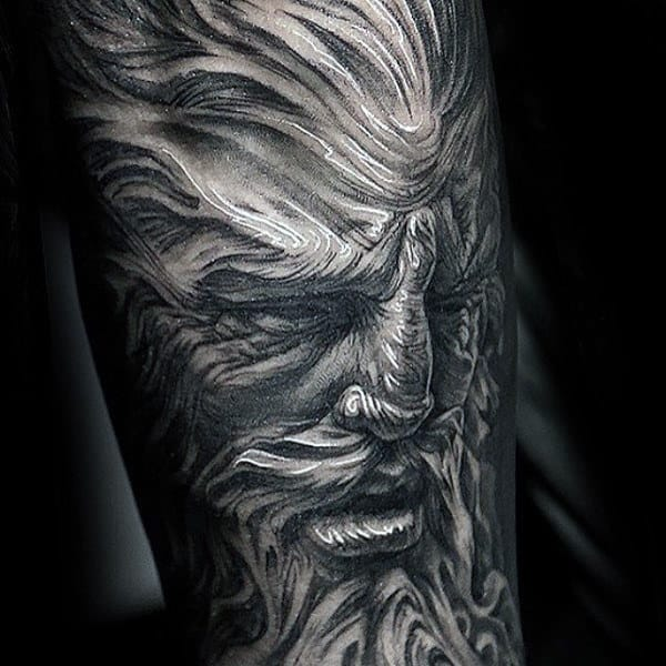 Greenman Original Forearm Sleeve Tattoos For Males
