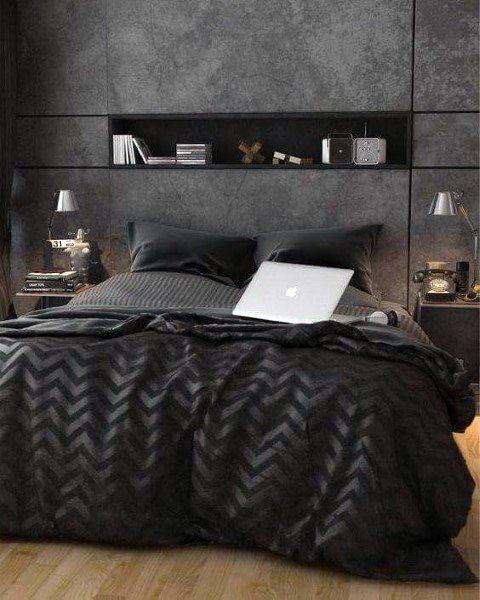 Grey And Black Bedrooms