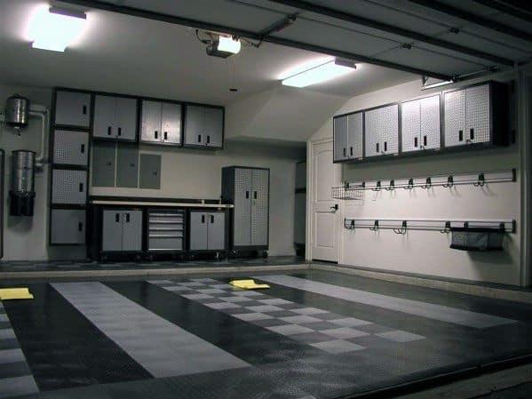 Grey And Black Garage Cabinet Ideas