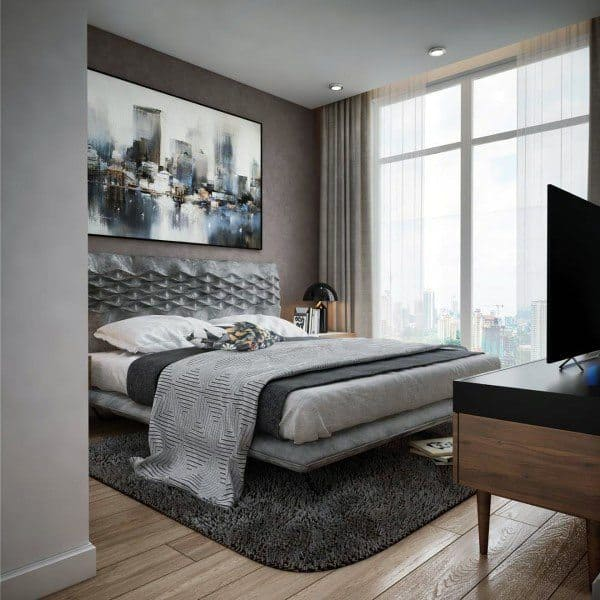 Home Interior Design Ideas For Small Living Room: Top 60 Best Grey Bedroom Ideas