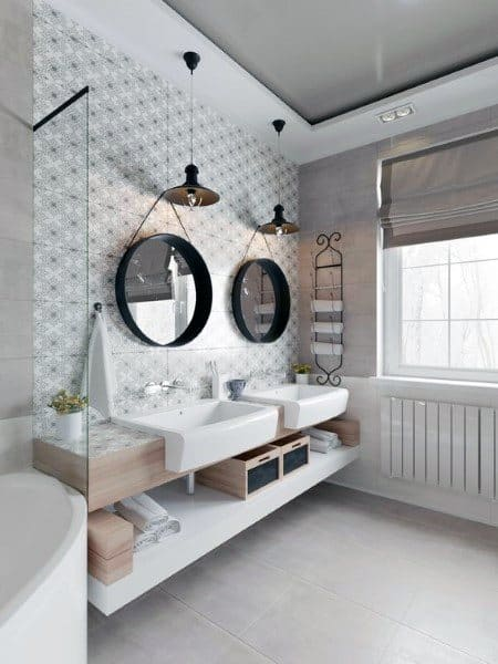 Grey And White Bathroom Ceiling Ideas