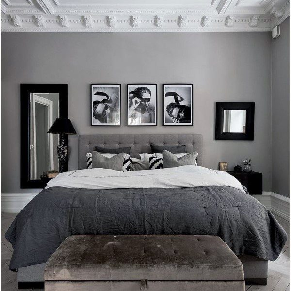 top 60 best grey bedroom ideas neutral interior designs 15455 | grey and white bedroom ideas 1