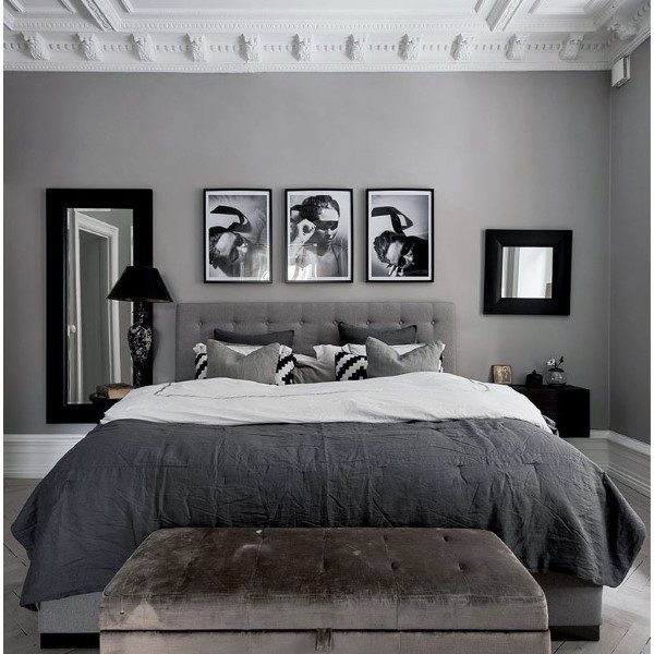 Gorgeous Gray And White Bedrooms: Top 60 Best Grey Bedroom Ideas
