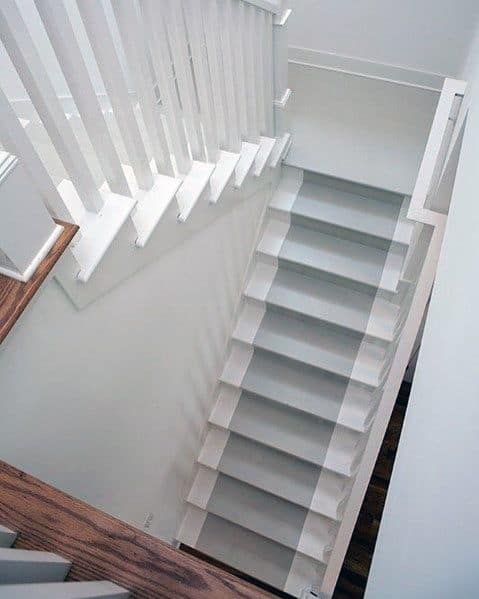 Grey And White Ideas For Painted Stairs